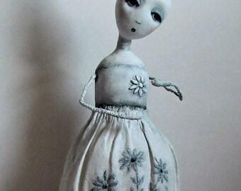 Paperclay/Paper Mache Art Doll ~ OOAK Art Doll ~ 'Addilyn'