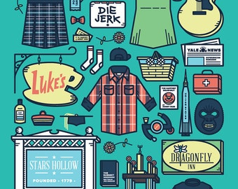 Gilmore Girls • TV Parts Poster