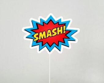 Smash Cake Topper, Superhero Cake Topper