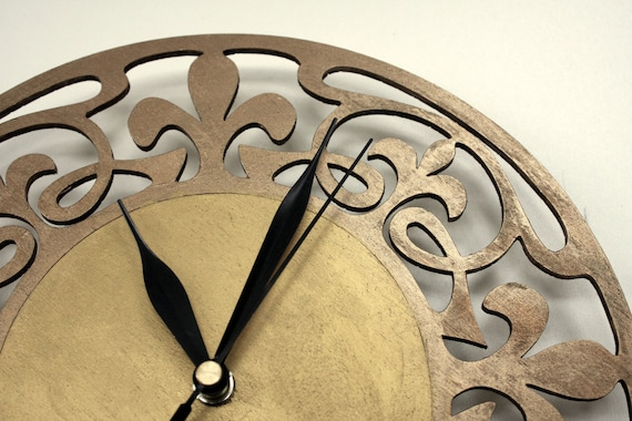 art nouveau wall clock wooden clock art deco home