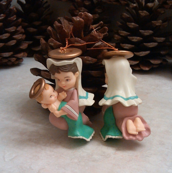 Items similar to vintage virgin mary and baby jesus christ for Baby jesus christmas decoration