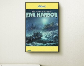 Far harbor poster etsy for Fallout 4 canvas painting
