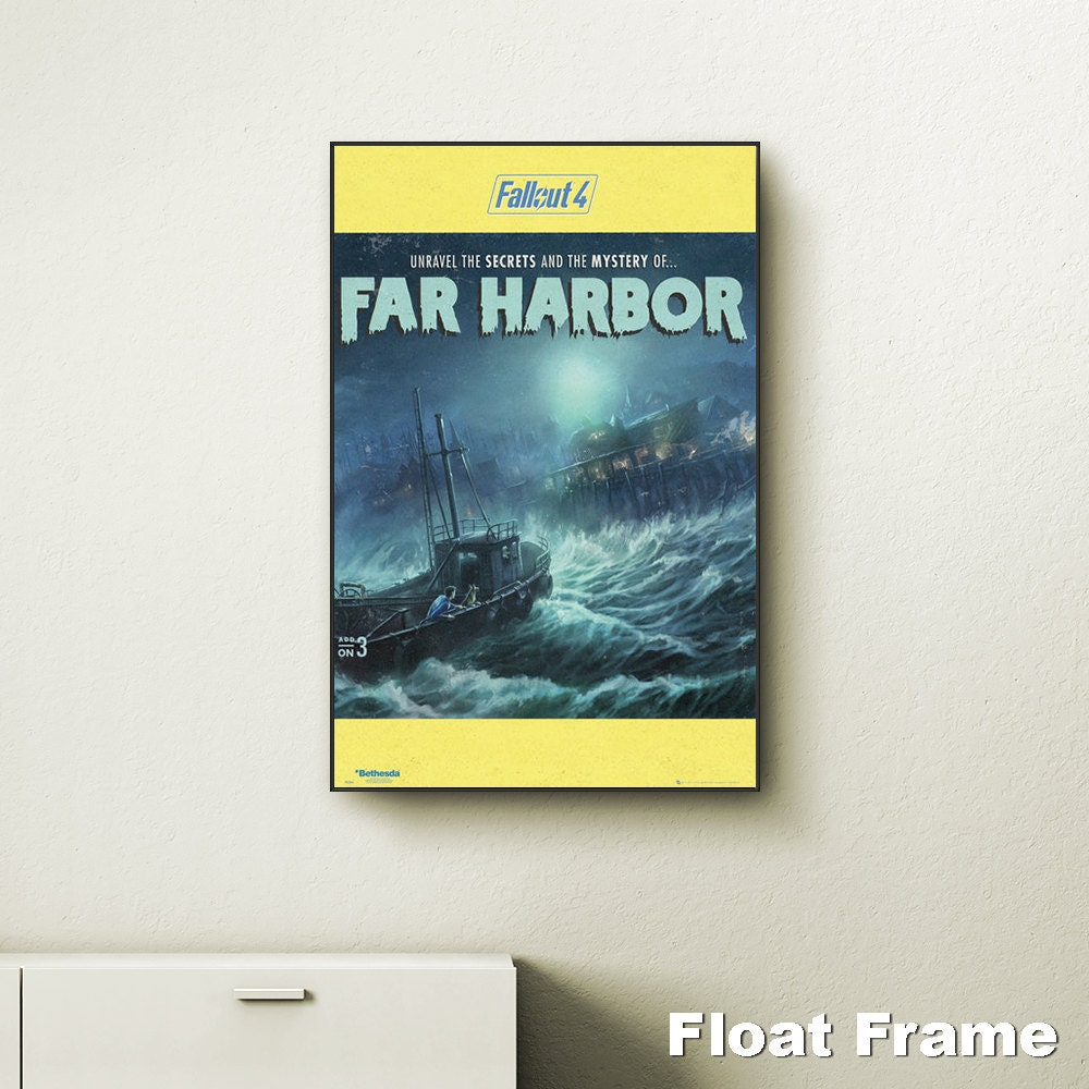 Fallout 4 far harbour wall art choose either a canvas float for Fallout 4 canvas painting