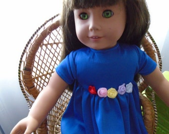 Americangirl doll,blue dress, 18 inches doll.