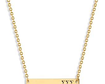Sigma Sigma Sigma Sorority Bar Necklace / Sigma Necklace / Sorority Necklace / Sorority Gift / Big Little Gift / Sorority Jewelry