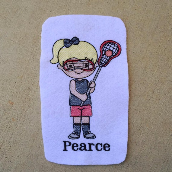 Lacrosse Girl Sketch Embroidery Design - lacrosse Sketch Embroidery Design