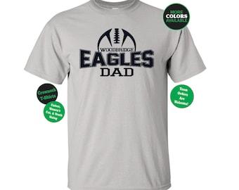 FOOTBALL DAD SHIRT. Football TShirt. Team Football. Mascot Football. Football Team. Sports Team. Football Laces Shirt. Football Team Shirt.