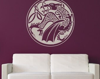 Celtic Dragon Wall Art Sticker (AS10027)