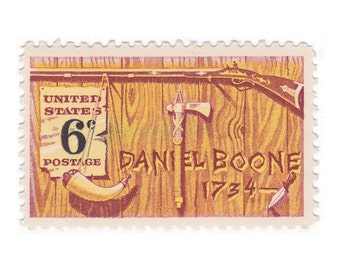 6c Daniel Boone // 1968 Vintage Unused US Postage Stamps // Qty of 10 // No. 1357