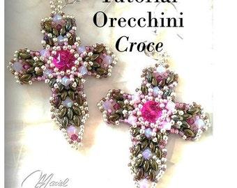 """Pattern - Earrings """"Cross"""""""