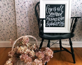Custom wedding chalkboard, welcome wedding sign, rustic wedding signage, all sizes, colors, and lettering available to fit your theme
