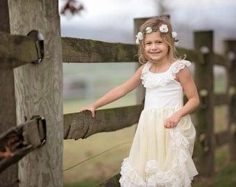 Lace flower girl dresses nz