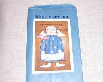 Raggedy Angel Doll Pattern, Primitive Patriotic Raggedy Angel Doll ,Bird Stick, Doll Pattern NOV54, Sewing Pattern