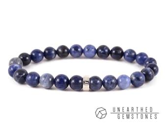 Sodalite Bracelet - Blue Beaded Bracelet, Sodalite Jewelry, Calming Bracelet, Healing Stone Bracelet, Gemstone Bracelet