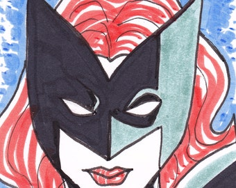 """Batwoman ACEO trading card 2 1/2"""" x 3 1/2"""""""