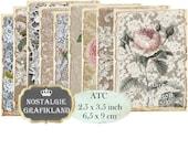 Ephemera Lace Roses Sewing French Needlework Instant Download ATC digital collage sheet S133