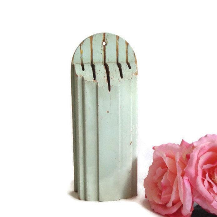 Antique Knife Holder Wooden Knife Block / Rack Art Deco