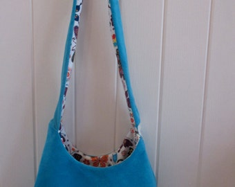 Lovely handmade suede bag