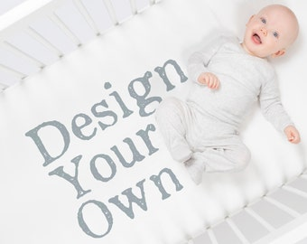 Custom Crib Sheet by Carousel Designs.  Design your own crib sheet and baby crib bedding.  Made in the USA.