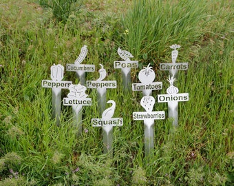 10 Pack Stainless Steel Garden Markers