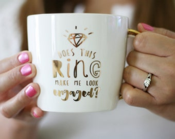 Engagement Mug Engagement Gift Bride Mug Wedding Gift Bridal Shower Gift Engagement Present Gift For Couple Proposal Gift Coffee Mug