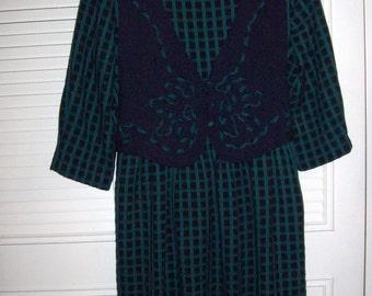 Prairie Dress 12, Miss Darby School Marm Prairie Dress Neat Maxi Comfortable Stylish Frock Size 12