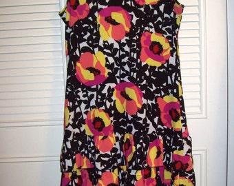 Sundress 10  Small Ruffeled, Peter Nygard Vivid Bouncy Tiered Ruffles Dress  , Enter Summer With A Bang !  Size Small