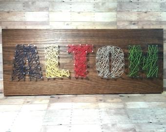 Nail String Art Name Board