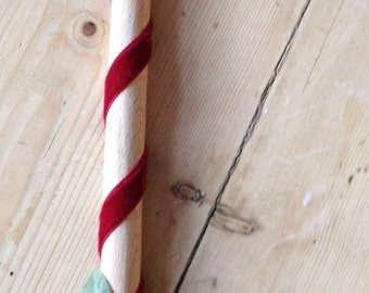 Red flower wooden spoon