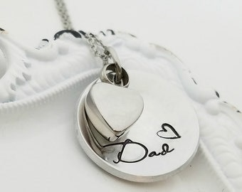 Domed Cremation Urn Necklace - Cremation Jewelry - Memorial - Loss of Loved One - Family Member Loss - Memorial Jewelry - Memorial Necklace