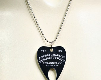 Laser Etched Ouija Planchette Necklace
