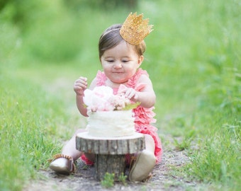 1st First Birthday Gold Crown Headband - Chloe - Gold Crown - Baby - Toddler - Adult - Tiara - Princess - Dress Up - Photo Props