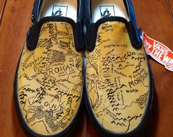 Lord of the Rings custom painted shoes.