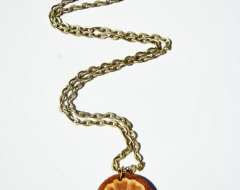 White Lotus  Avatar Last AirBender Legend of Korra - Wood Necklace - Order of the White Lotus