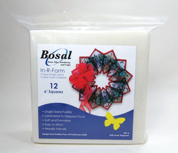 In R Form 6 Squares Bosal Single Side Fusible Foam By