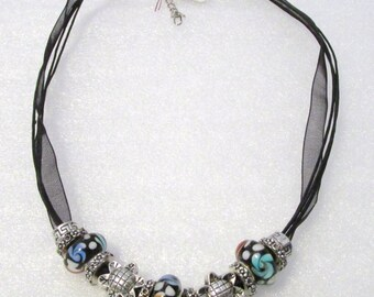 897 - Black Beaded Necklace