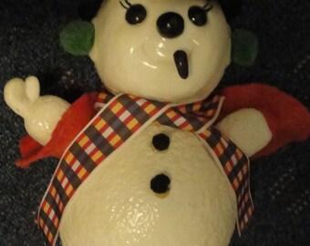 Vintage Plastic Snowman bank Royalty Industries