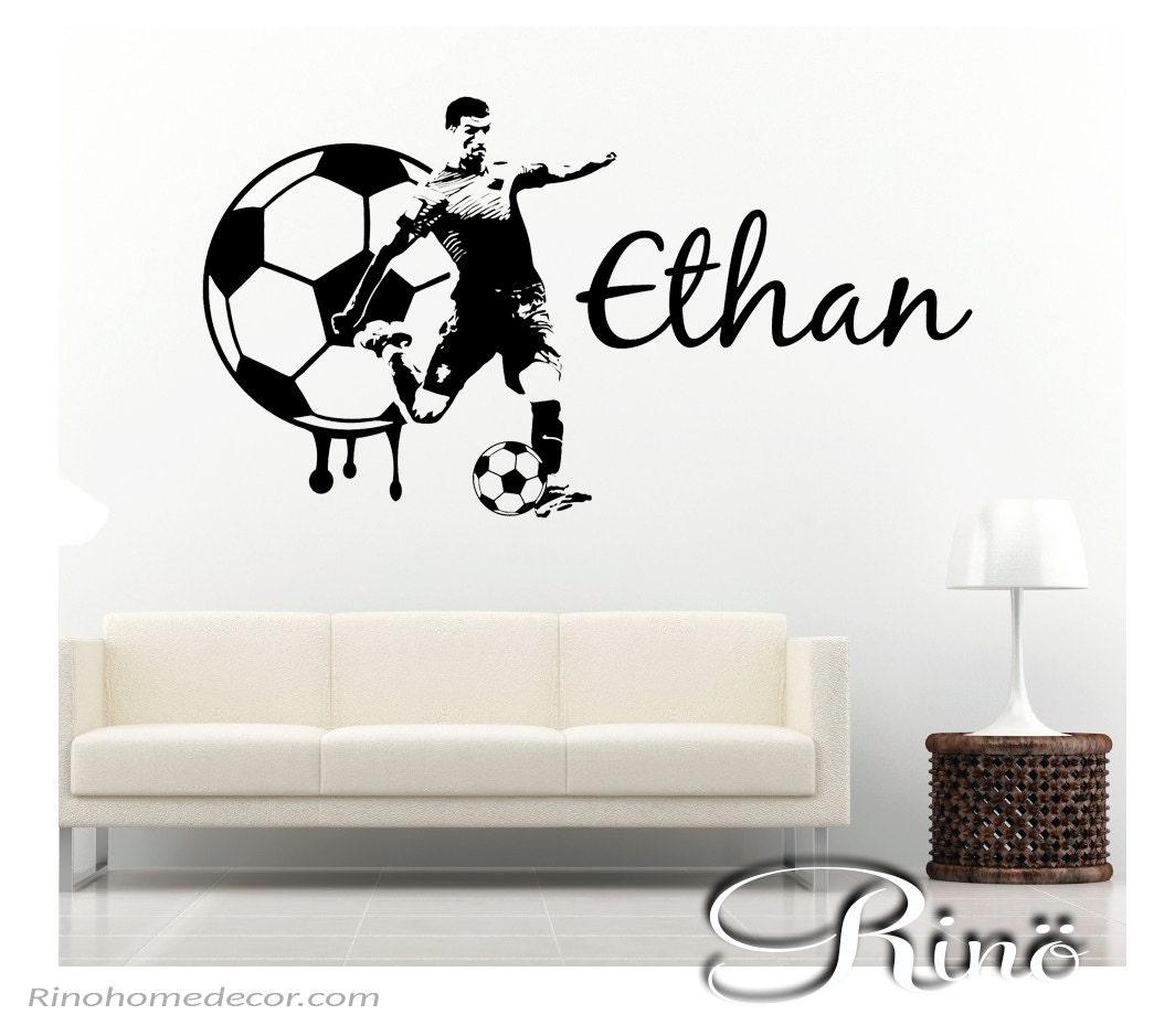 Soccer Decal Football Custom Name Large Soccer Wall Art Decal - Custom large vinyl stickers