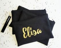 Bridesmaid Gifts - Bridesmaid Bags  - Bridal Party Bags - Gifts for Bridesmaids - Makeup Bags - Personalized Bridesmaid Gifts