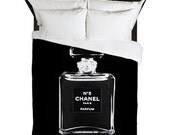 Duvet Cover - Chanel Duvet Cover - Fashion Bedding - Chanel Bedding - Fashion Duvet Cover - Fashion Decor - Black and White - Gifts for Her