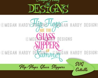Flip Flops Glass Slippers SVG