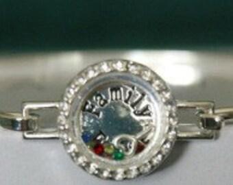 Bangle Silvertone Family First Bracelet