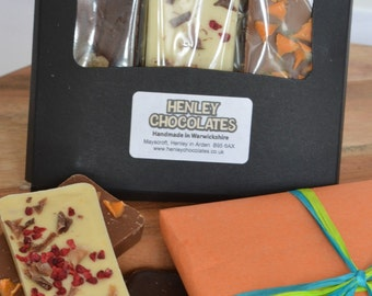 Three Chocolate Bar Bespoke Tasting Gift Pack