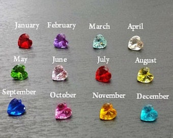 Crystal Heart Birthstone Floating Charm for Floating Lockets-Gift Ideas