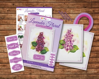 Lavender Greeting Card Quilling Kit