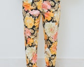 VTG 80s Floral Trousers