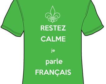RESTEZ CALME je parle français