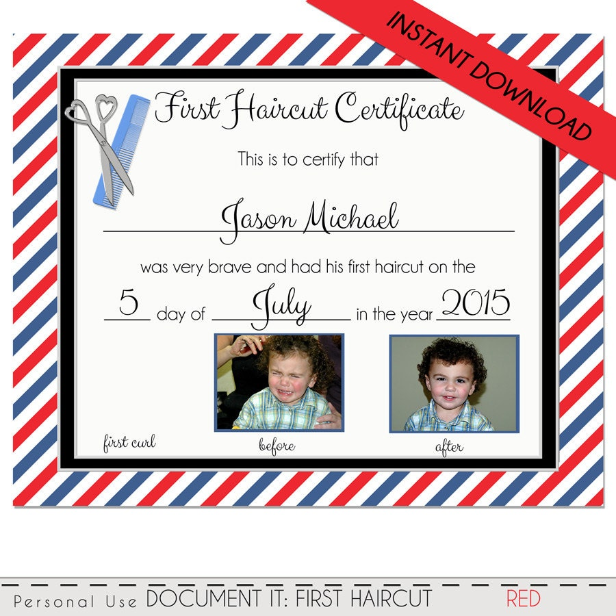 My first haircut certificate template choice image haircut ideas first haircut certificate baby first haircut photo zoom pmktfo choice image xflitez Gallery