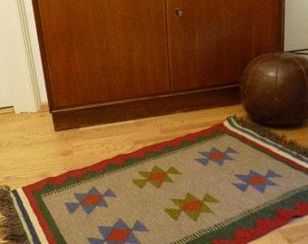 Vintage KILIM rug hand-woven 110 x 62 cm Kilim 60s 70s SALE