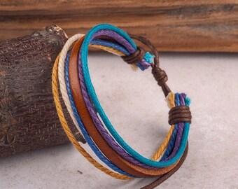 Leather Bracelet For Women, Boyfriend Girlfriend Jewelry, Mens Bracelet, Leather Bracelets, His and Hers Braclets,  JLA-74